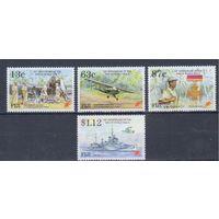 [952] Фиджи 1995. Вторая мировая война.Корабли,самолеты.