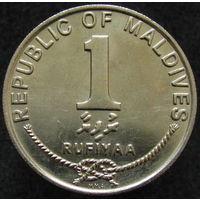 Мальдивы 1 руфия 1990 KM#73a (444)