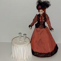 Стеклянные кукольные бокалы ручная работа с гравировкой (кукольный дом в викторианском стиле, Дом мечты ДеАгостини DeAgostini, миниатюра 1:12) (за два)