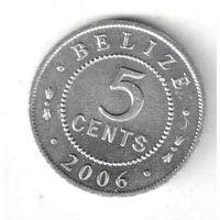 Белиз 5 цент 2006