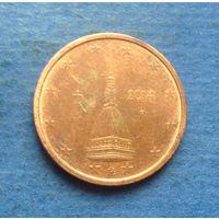 Италия 2 евроцента 2014