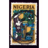 1 марка 1973 год Нигерия Второй рыбак 285