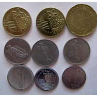 Монеты Малайзии. 5, 10,20, 50 50 ринггитов 1995 – 2014, цена за все