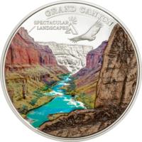 "Острова Кука 5 долларов 2014г. ""Гранд-Каньон"". Монета в капсуле; сертификат. СЕРЕБРО 20гр."