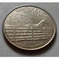 25 центов, квотер США, штат Кентукки, P D