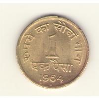 1 пайс 1964 г. МД: Хайдарабад.