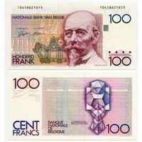Бельгия. 100 франков (образца 1982 года, P142, подпись 5+14, aUNC)