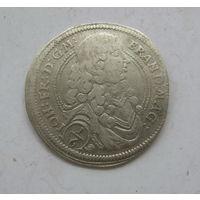 1/6 талера 1676 Фридрих Вильгельм.Бранденбург.Пруссия.