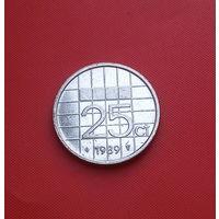 28-34 Нидерланды, 25 центов 1989 г.
