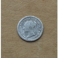 Великобритания, Виктория (1837-1901), 1,5 пенни 1862 г., серебро