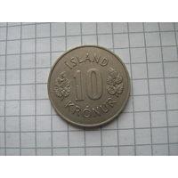 Исландия 10 крон 1970г.km15 редкий год