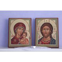 Иконы Спасителя и Богородицы ручной работы