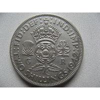 Великобритания 2 шиллинга (флорин) 1942 г. серебро