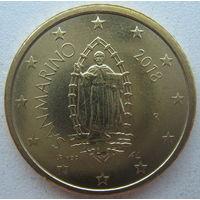 Сан-Марино 50 евроцентов 2018 г.