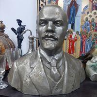 В.И. Ленин. Бюст, 23х22. Силумин. Автор Мурзин.