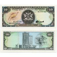 Тринидад и Тобаго. 10 долларов (образца 1985 года, P38c, UNC)