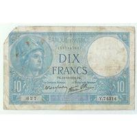 Франция, 10 франков 1939 год.
