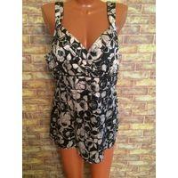 Обалденная и сексуальная блуза Next 50-52 (20 размер), на хорошую грудь. Сбоку есть замочек, ткань немного тянется. Очень классно смотрится. ПО под грудью 48 см.