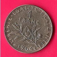 49-17 Франция, 1 франк 1964 г.