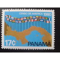 Панама 1980 муз. конкурс, флаги участников