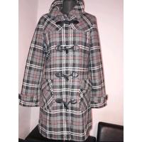 Стильное теплое пальто в клетку со съемным капюшоном ТРЕНД СЕЗОНА