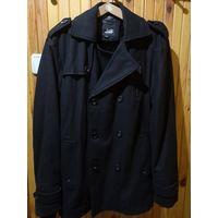 Новое мужское пальто черного цвета на рост 170-180