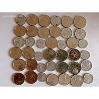 Монеты Чехии с рубля.