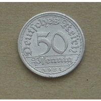 Германия. 50 пфеннигов 1921 года (А).