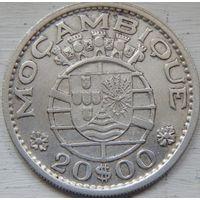 15. Мозамбик, колония Португалии 20 эскудо 1955 год, серебро*