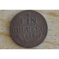 Австрия 1 крейцер 1816 А