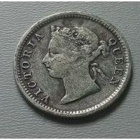 Гонконг 5 центов 1891 г.