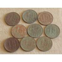 Монеты достоинством в 15 копеек лот sssr и др