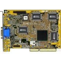 Фирменная видеокарта ASUS AGP-V3000 (AGP-2x, 4Мбайт) - подходит для ретро-плат Socket-7 с разъёмом AGP, для.первых плат Slot1 (Slot-1), Socket-370 на чипах FX, LX. =Рабочая=