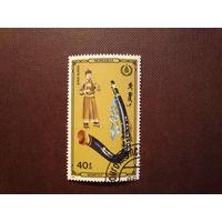 Монголия 1986 г.Музыкальные инструменты.