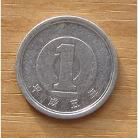 ЯПОНИЯ,1иена1993г.Император Акихито. Y# 95