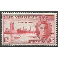 Сент-Винсент. Король Георг VI. Парламент в Лондоне. 1946г. Mi#134.