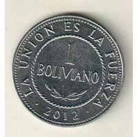 Боливия 1 боливиано 2012