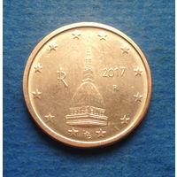 Италия 2 евроцента 2017