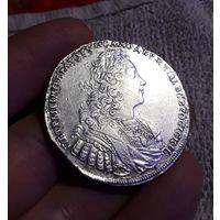 Монета рубль Петр 2 1729