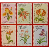 Вьетнам. Цветы. ( 6 марок ) 1989 года.