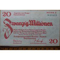 20 миллионов марок 1923г. Дрезден