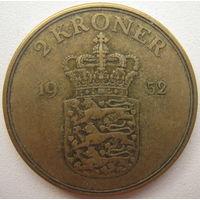 Дания 2 кроны 1952 г.