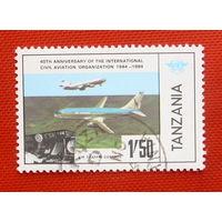 Танзания. Авиация. ( 1 марка ) 1984 года.