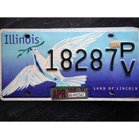 Номер автомобильный USA Illinois dove