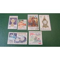 Чехословакия, сборный лот с 1 рубля
