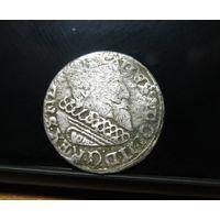 ПОЛЬША 3 гроша 1632(?), шведская оккупация Эльблёнга