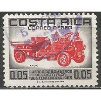 Коста-Рика. Авиапочта. 100 лет пожарной службе. 1966г. Mi#688.