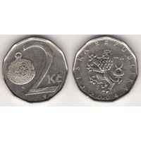 Чехия. 2 кроны 2004 года.