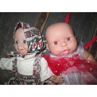 Куклы из СССР 2 шт.высота 27 см.