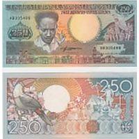 Суринам 250 гульденов 1988г.
